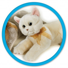 Jucarie din plus Pisica cu fundita 34 cm - Jucarii plus