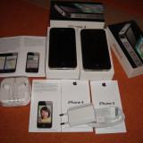 Apple iPhone 4 16GB NEVERLOCKED NOI LA CUTIE - 539 LEI !!!, Negru, Neblocat