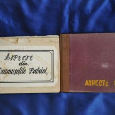 LOT 2 ALBUME VECHI CU CĂRŢI POŞTALE ILUSTRÂND ORAŞE ALE ROMÂNIEI, Printata, Romania de la 1950