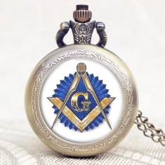 Ceas De Buzunar - Model Illuminati , Masonerie ,  Francmasonerie , Freemason