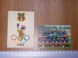 LOT 2 CALENDARE FOTBAL - STEAUA 1984 , 1985
