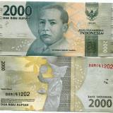 !!! NOU : INDONEZIA - 2.000 RUPII 2016 - P NEW - UNC - bancnota asia