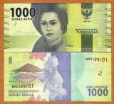 !!!  NOU  :  INDONEZIA  -   1.000   RUPII  2016  -  P  NEW   - UNC