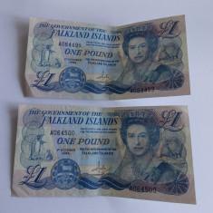 Bancnote 1 lira 1984 Falkland Islands- serie consecutiva - bancnota africa