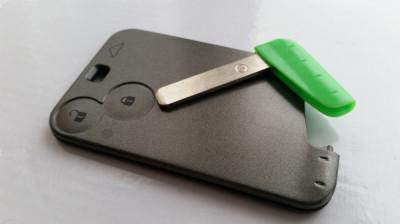 Carcasa cheie Renault Laguna Espace tip card lamela inclusa foto