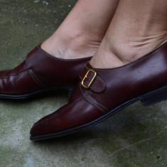 PANTOFI COMOZI DIN PIELE NATURALA - HENDERSON, NR. 36, 5 - 37 - Pantof dama, Culoare: Din imagine, Cu talpa joasa