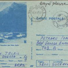 Intreg postal CP 1988 circulat - Busteni - Telecabina spre Valea Jepilor, Dupa 1950