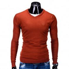 Bluza barbati E74 Cărămiziu, Marime: S, L, XL, XXL, Culoare: Teracota, Anchior, Bumbac