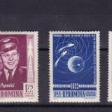 ROMANIA 1962, LP 547, PRIMUL ZBOR IN GRUP - VOSTOK 3 SI 4 SERIE MNH - Timbre Romania, Nestampilat