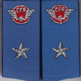 Pereche epoleti petlite CFR albastre cu 1 stea
