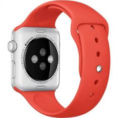 Curea Sport Portocalie Pin Otel Inoxidabil Apple Watch 38MM - Curea ceas cauciuc