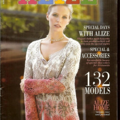 Revista ALIZE (lb. turca) cu 132 modele, tipare si explicatii in limba engleza - Revista moda