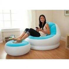 Fotoliu cu taburet pentru picioare Intex 68572 - Fotoliu living