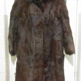 Haina din blana naturala de vizon marimea 46, este noua! - haina de blana