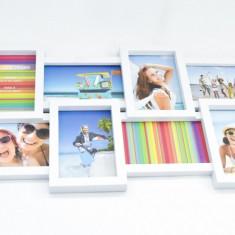Rama foto colaj pentru 12 fotografii - se agatata pe perete – alba – 80 cm