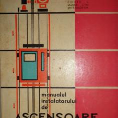 MANUALUL INSTALATORULUI DE ASCENSOARE AN 1964/295PAG= V.CRACIUNOIU