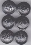 Lot 6 nasturi metal  culoare neagra insemne heraldice,vintage RSR