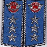 Pereche epoleti petlite CFR albastre cu 3 stele