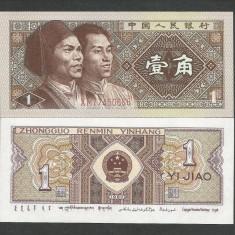 CHINA 1 JIAO 1980 UNC [1] P-881, necirculata - bancnota asia