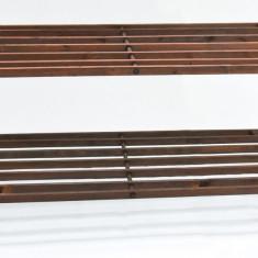 Suport din lemn cu 2 etajere pentru pantofi - NOU - Pantofar hol