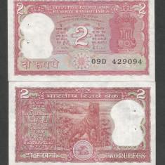 INDIA 2 RUPII RUPEES 1985 - 1990 UNC [1] P-53 Ac Semn. Malhotra, Litera A - bancnota asia