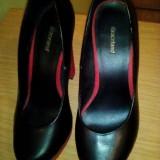 Pantofi de ocazie - Pantof dama, Culoare: Negru, Marime: 38