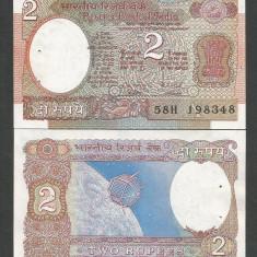 INDIA 2 RUPII RUPEES 1985 UNC [1] P-79H Semn. Malhotra, Litera A necirculata - bancnota asia