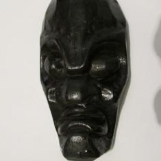 CAP DE BARBAT-APLICA-sculptura in lemn, arta africana, vintage - Arta din Africa