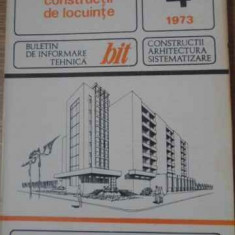 Constructii De Locuinte 4/1973 - Colectiv, 393079 - Carti Constructii