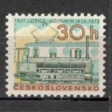 Cehoslovacia.1972 100 ani linia ferata Kosice-Bohumil CC.358 - Timbre straine, Nestampilat