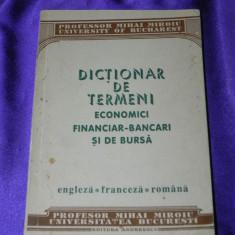 Dictionar de termeni economici financiar bancari si de bursa Mihai Miroiu (f0854