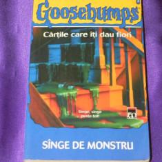 R L Stine - Sange de monstru Goosebumps (f0838 - Carte SF