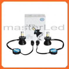 Set H4 LED, 40W, 4000 lumeni/bec CANBUS - becuri pentru faruri - 9-36V - Led auto BOORIN, Universal