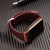 Ceas smartwatch Dz09 android, iphone, samsung, gold auriu, Alte materiale, Android Wear