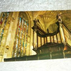 Cp orga muzicala arta vitralii biserica ANGLIA - 2+1 gratis - RBK24168 - Carte postala tematica, Necirculata, Fotografie