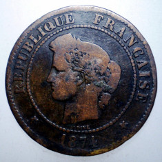 1.263 FRANTA CERES 5 CENTIMES 1874 K, Europa, Bronz