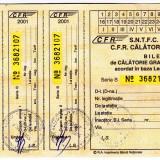 Bilet calatorie gratuita 2001 CFR nefolosit legea 44/1994 veteranii de razboi