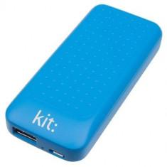 Baterie externa Kit Essential cu mufa USB 4000 mAh, Albastru