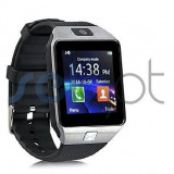Ceas smartwatch Dz09 android, iphone, samsung, silver argintiu, Alte materiale, Android Wear
