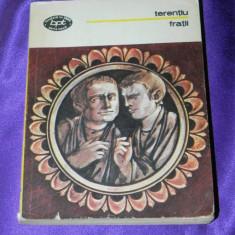 Terentiu - Fratii teatru colectia bpt (f0684 - Carte Teatru