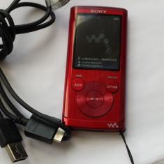SONY WALKMAN - MP3 player Sony, 4GB, Rosu, Display, FM radio
