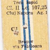 Bilet tren rapid CFR pret intreg Cluj Brasov 31 IUL 1982
