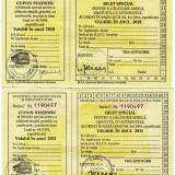 Lot 2 bilete calatorie gratuita 2010-2011 autobuze nefolosite veteranii razboi