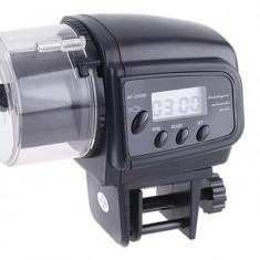 Hranitor automat acvariu pesti cu ecran LCD afiseaza ora si data