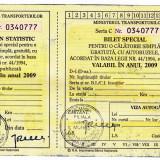 Bilet special calatorie gratuita 2009 cu autobuzele nefolosit  veteranii razboi