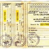 Bilet calatorie gratuita 2002 CFR nefolosit legea 44/1994 veteranii de razboi