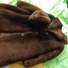Haina blana monton dore+caciula - haina de blana