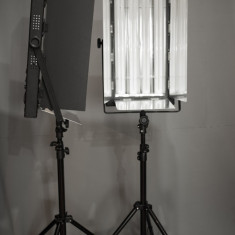 Lumina continua flourescenta 4 x 55w (2 bucati) - Lampa Camera Video