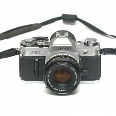 Canon AE-1 + Obiectiv 50mm 1.8 - Aparat Foto cu Film Canon