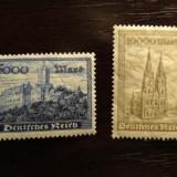 GERMANIA (REICH) 1923 – MONUMENTE ISTORICE serie cu SARNIERA UN139, Nestampilat